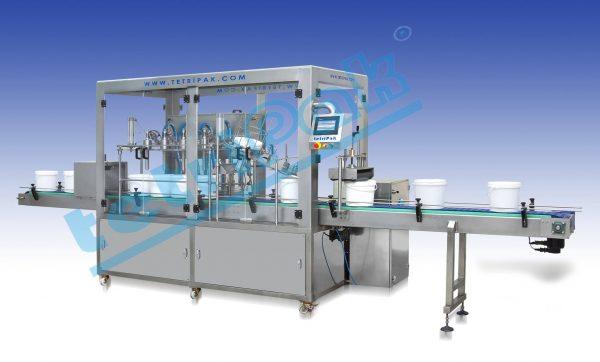 Plastic Bucket Filling and Closing Machine Tetripak Machine (1)