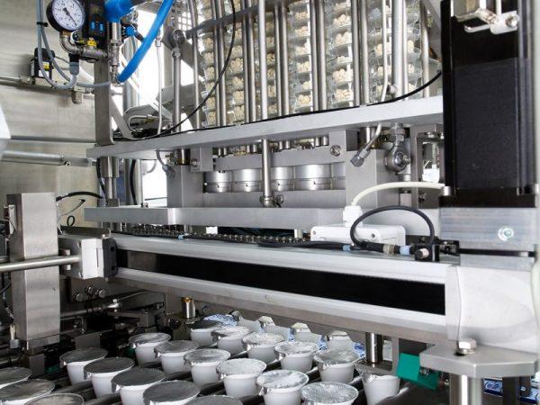 Plastik kase yoğurt dolum ve folyo kapatma makinesi tetripak makine